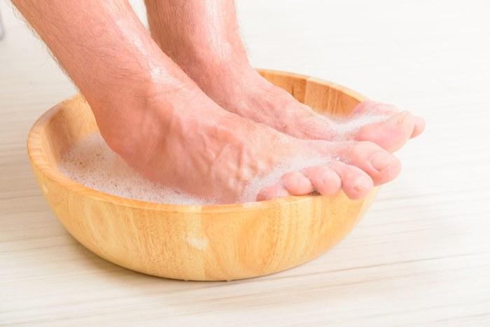 ปัญหาเท้าเหม็น ล้างเท้า